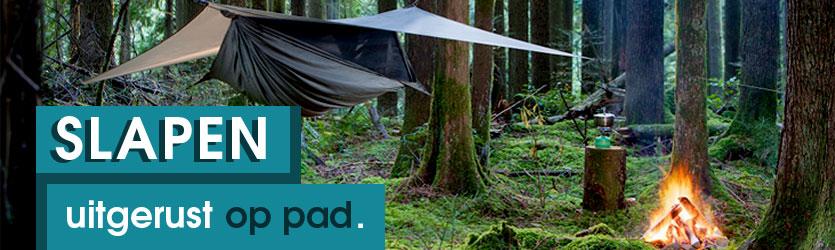 Survival Outdoor slapen overnachten slaapzak hangmat nachtrust comfort kussen